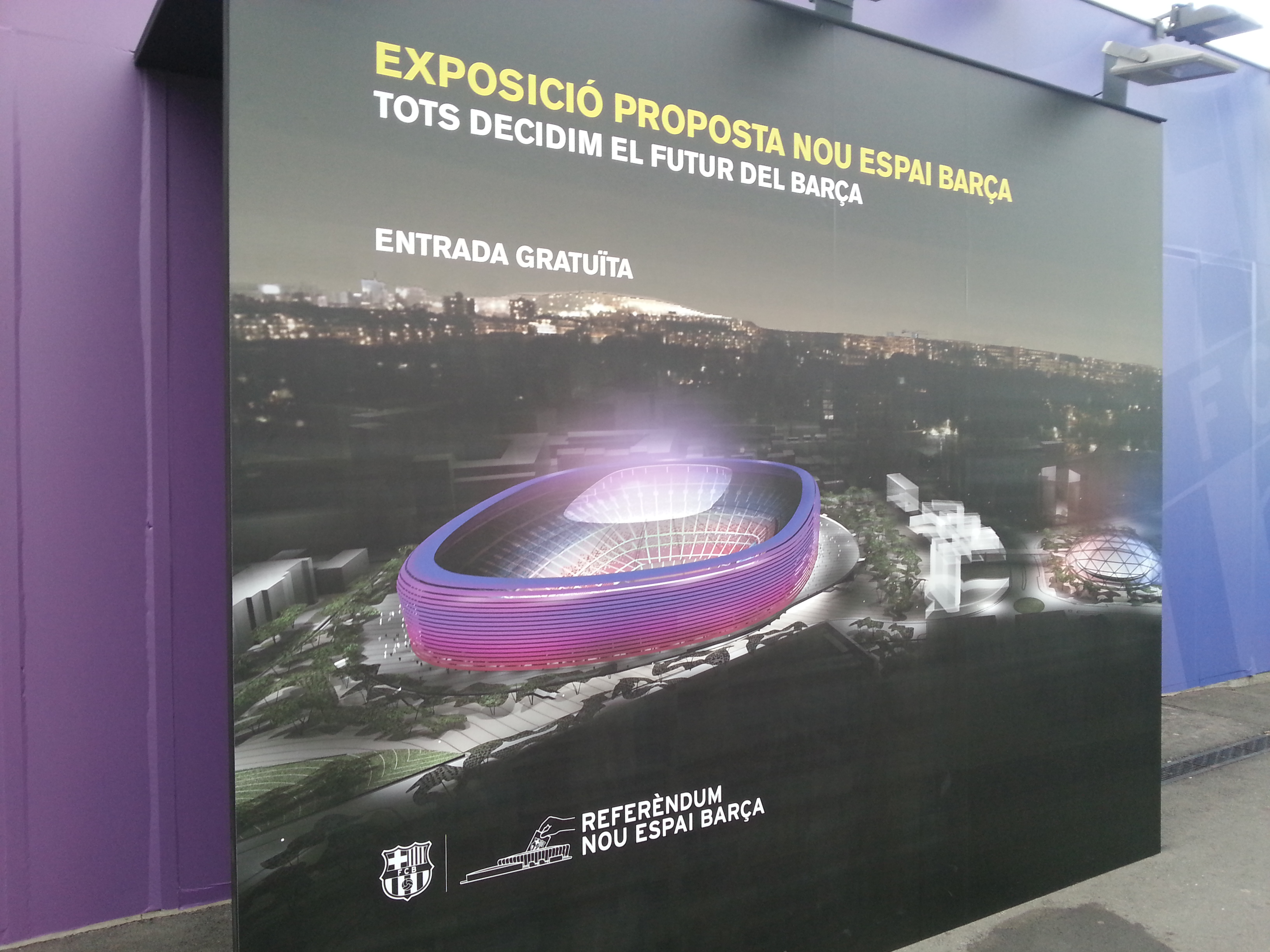 FC Barcelona's supporters decide on new stadium